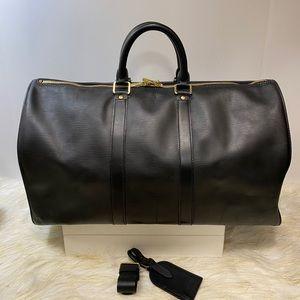 Preloved Louis Vuitton Keepall 45 Black Epi